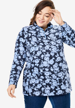 Microfleece Quarter-Zip Pullover,