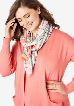 Multicolor Striped Lightweight Cotton Scarf,