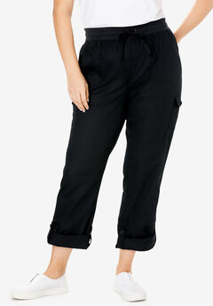 Convertible Length Cargo Pant, BLACK