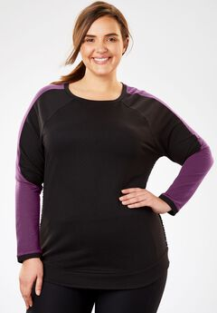 Mesh Colorblock Sweatshirt,