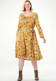 Belted Swing Dress by Chelsea Studio®,