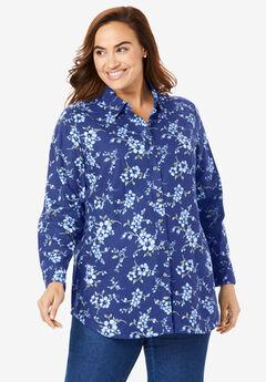 Classic Flannel Shirt, ULTRA BLUE VINE FLORAL