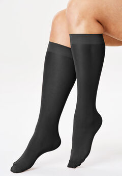 3-Pack Knee-High Support Socks by Comfort Choice®, BLACK