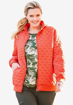 Quilted Bomber Jacket,