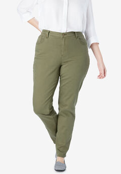 Perfect Straight Leg Jean, OLIVE GREEN