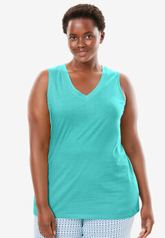 Cotton Sleep Tank by Dreams & Co.®, AZURE