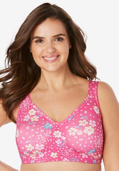 Unlined Wireless Bra by Comfort Choice®, PARADISE PINK FLORAL ANIMAL