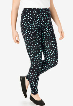 4a6f253c80 Stretch Cotton Printed Legging. Woman Within