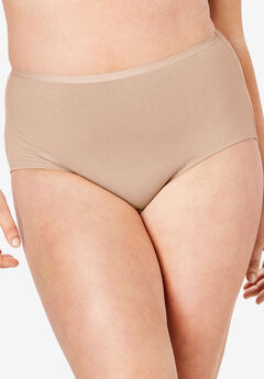 3-Pack Cotton Full-Cut Brief by Comfort Choice®, NUDE PACK