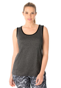 Peached Knit Tank Top by FullBeauty SPORT®,