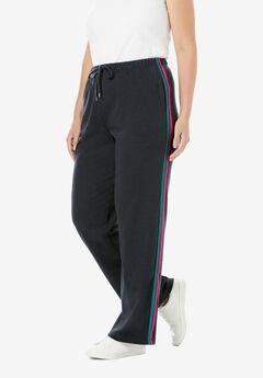 Sport Knit Side-Stripe Pant,