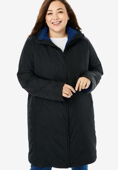 3-in-1 Hooded Taslon® Jacket, BLACK EVENING BLUE