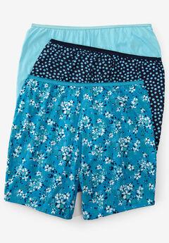 3-Pack Cotton Boxer by Comfort Choice®, AQUA FLORAL PACK