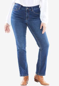 Curvy Straight Leg Slimmer Jean, MEDIUM DARK