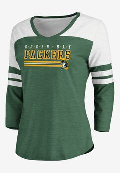 NFL® Long Sleeve Yoked V Tee with Army Stripes, PACKERS