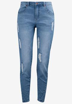 Distressed Girlfriend Jeans,