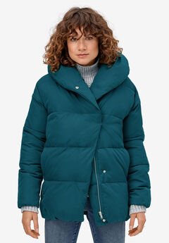 Shawl Collar Puffer Jacket by ellos®,