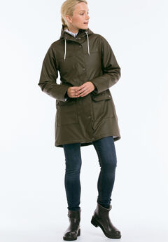 77ce66a1d5a Sherpa Lined Hooded Raincoat by ellos®
