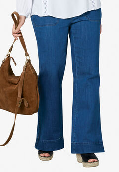 High-Waist Wide Leg Jeans by ellos®,