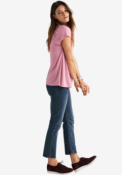 Gathered Shoulder Tee by ellos®,