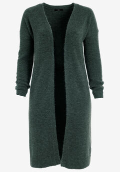 Nolita Duster Cardigan by ellos®, DEEP EMERALD