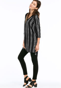 Front & Back V-Neck Tunic by ellos®,