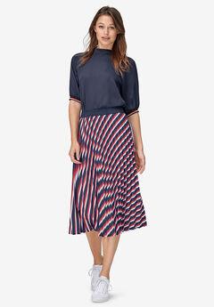 Pleated Midi Skirt by ellos®,