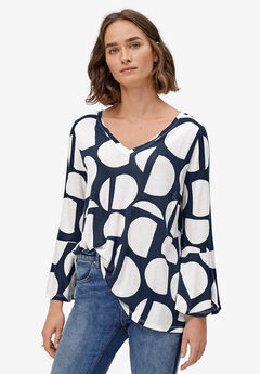 Bell Sleeve A-Line Knit Tunic by ellos®,