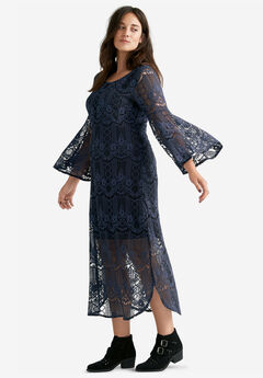 Florence Lace Midi Dress,