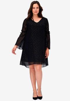 Gold Dot A-line Dress by ellos®,