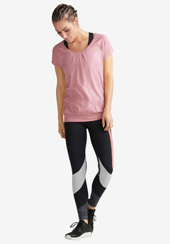 Pleated-Front Cap Sleeve Tee by ellos®,