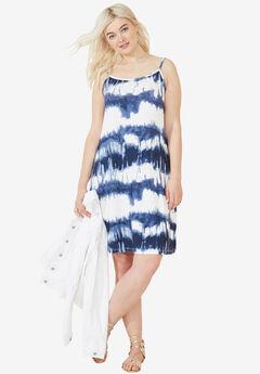 Knit Tank dress by ellos®, BLUE WHITE PRINT
