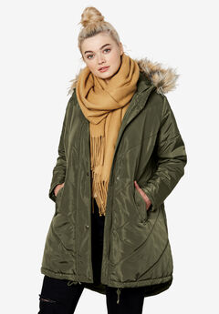 aaca701f8c3 Plus Size Quilted   Down Coats   Jackets for Women