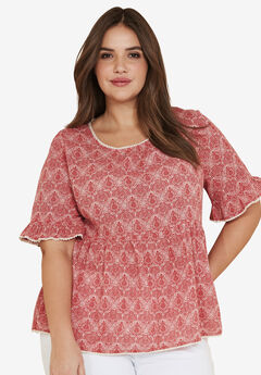 d019671521c5e Plus Size 3 4 Sleeve Shirts   Blouses for Women