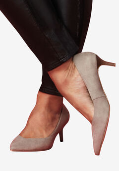 Pointed Toe Kitten Heel,