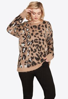 Leopard Print Sweater by ellos®, LEOPARD