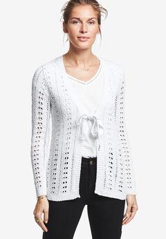 Tie-Front Crochet Cardi by ellos®,