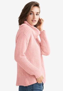 Chenille Turtleneck Sweater by ellos®, SOFT BLUSH
