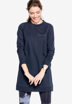 Love Tunic Sweatshirt by ellos®, NAVY