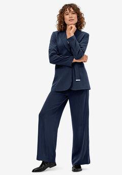 Pinstripe Wide-leg Soft Pants by ellos®,