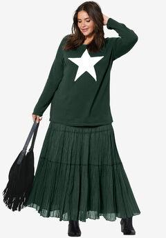 Tiered Crinkle Skirt by ellos®,