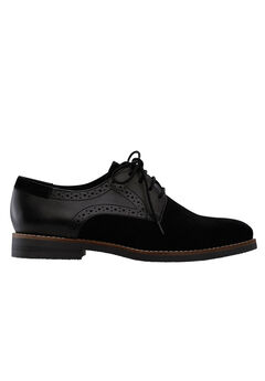 Lace-Up Oxford Flats by ellos®, BLACK