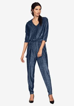 Glitter Knit Jumpsuit by ellos®,