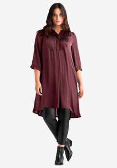 Studded Tunic Dress by ellos®, DEEP WINE