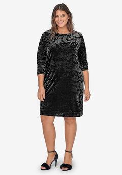 Burnout Pattern Velour Dress by ellos®,
