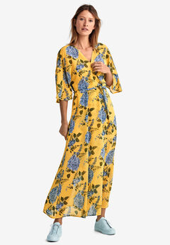Tie-Front Floral Wrap Dress by ellos®,