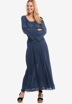 Lace Trim Long Skirt by ellos®,