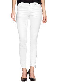 Zip Hem Skinny Jeans by ellos®,