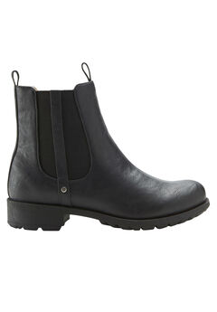 Sherpa Lined Faux Leather Chelsea Bootie by ellos®,