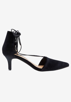 Lace-Up Velvet Pump,